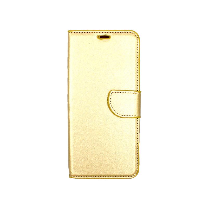 Θήκη Honor 8x πορτοφόλι χρυσό 1