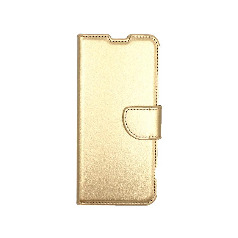 Θήκη Samsung Galaxy S20 πορτοφόλι χρυσό 1
