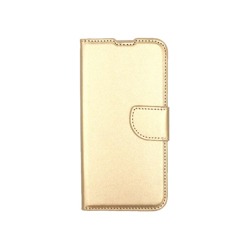 θήκη Xiaomi Mi 9 SE πορτοφόλι με κράτημα χρυσό 1