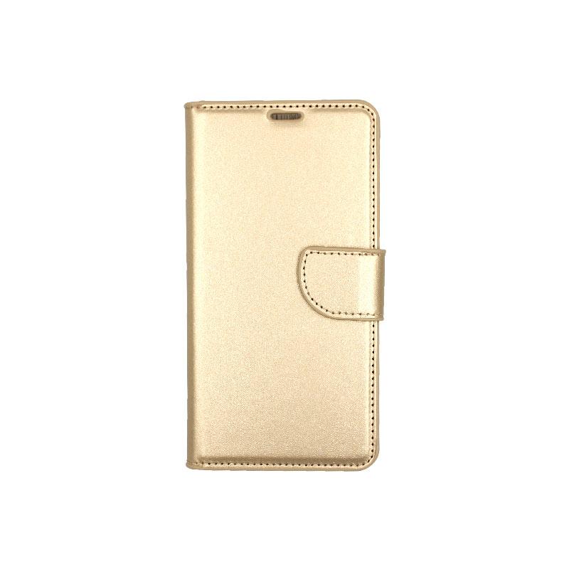 θήκη Xiaomi Mi 8 πορτοφόλι με κράτημα χρυσό1