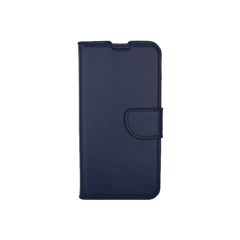 Θήκη Xiaomi Mi 9 Lite / CC9 / A3 Lite πορτοφόλι σκούρο μπλε 1