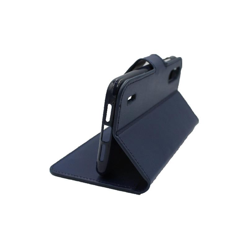 Θήκη Xiaomi Mi 9 Lite / CC9 / A3 Lite πορτοφόλι σκούρο μπλε 4