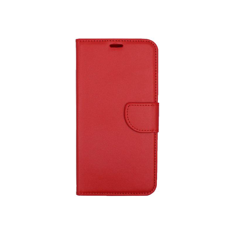 Θήκη Huawei Y7 2018 πορτοφόλι κόκκινο 1