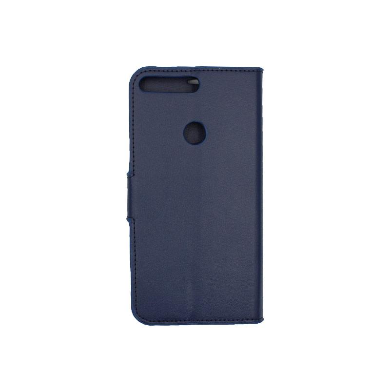 Θήκη Huawei Y7 2018 πορτοφόλι μπλε 2