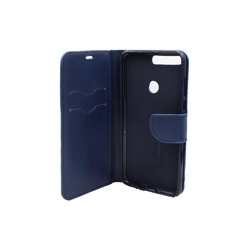 Θήκη Huawei Y7 2018 πορτοφόλι μπλε 3