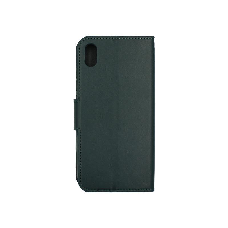 θήκη Xiaomi Redmi 7A πορτοφόλι με κράτημα πράσινο 2