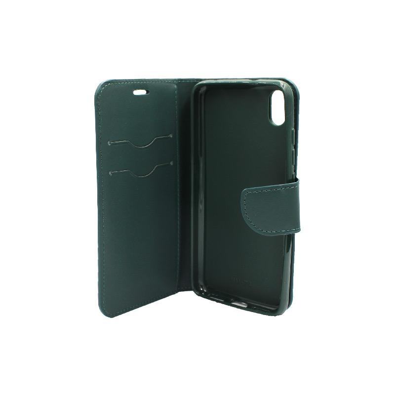 θήκη Xiaomi Redmi 7A πορτοφόλι με κράτημα πράσινο 3