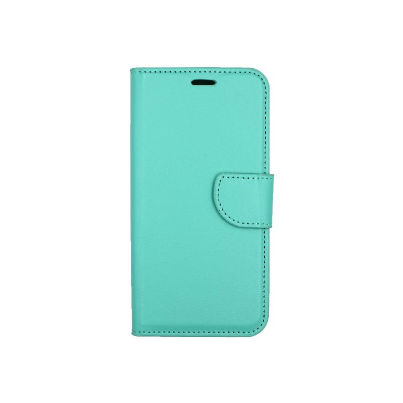 θήκη Xiaomi Redmi 7A πορτοφόλι με κράτημα τιρκουάζ 1