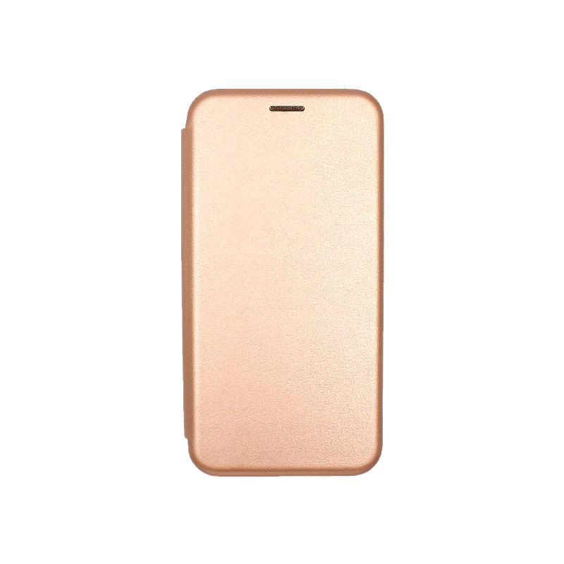 Θήκη Honor 8x Πορτοφόλι με Μαγνητικό Κλείσιμο ροζ χρυσό 1