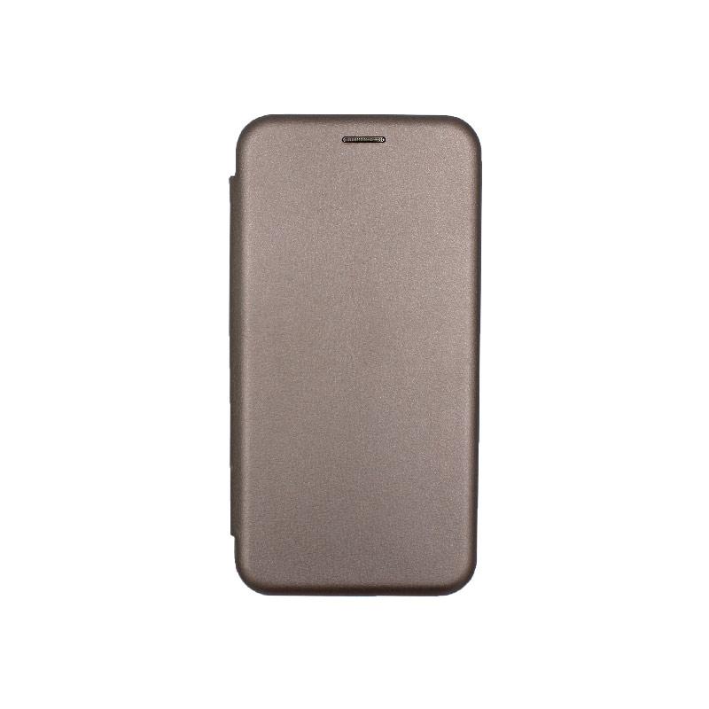 Θήκη Huawei Mate 20 Lite Πορτοφόλι με Μαγνητικό Κλείσιμο γκρι 1