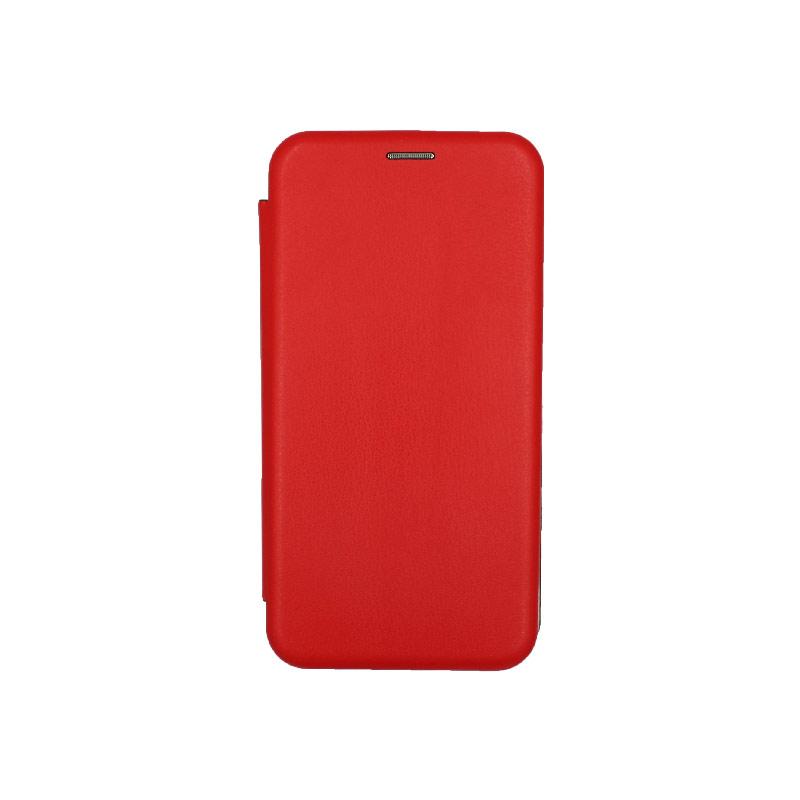Θήκη Huawei Mate 20 Lite Πορτοφόλι με Μαγνητικό Κλείσιμο κόκκινο 1