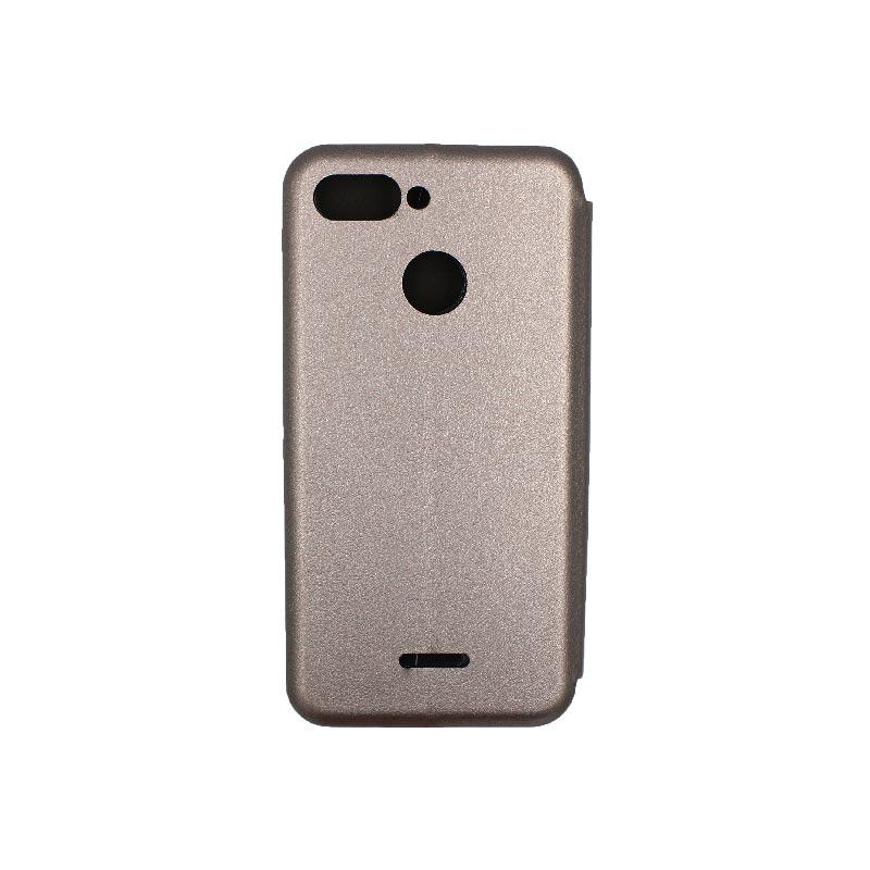 Θήκη Xiaomi Redmi 6 Πορτοφόλι με Μαγνητικό Κλείσιμο γκρι 2