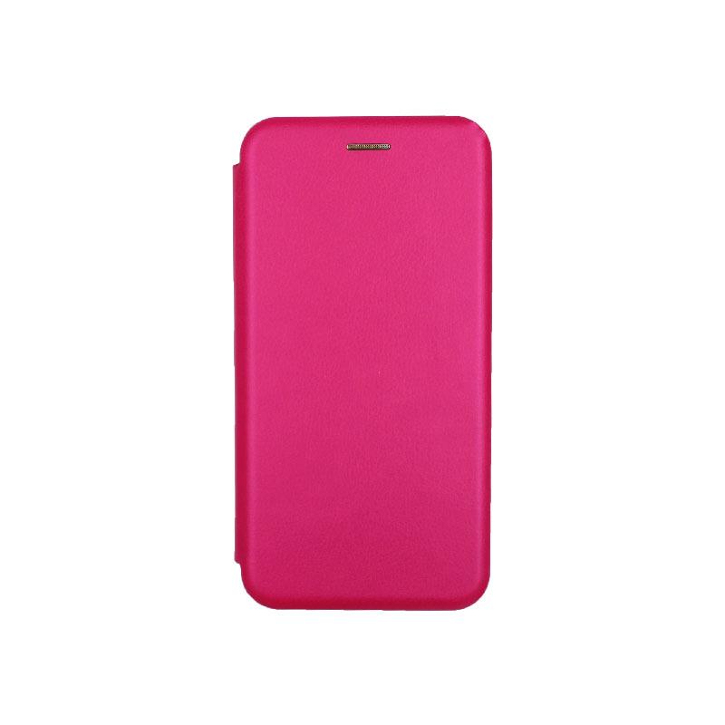 θήκη Xiaomi Mi 8 Lite πορτοφόλι με μαγνήτη φουξ 1