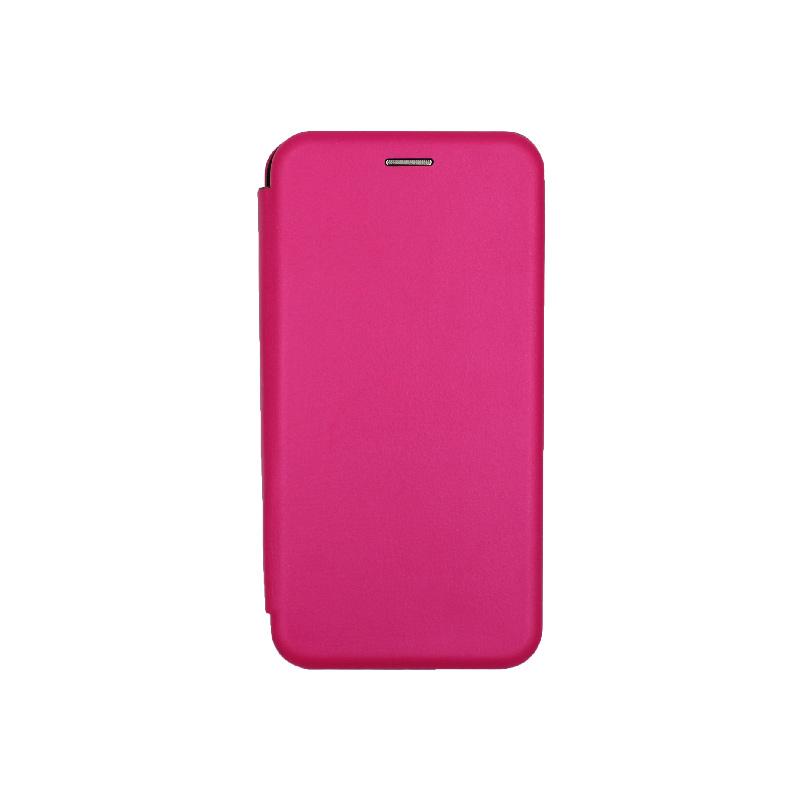 Θήκη Huawei P Smart Plus Πορτοφόλι με Μαγνητικό Κλείσιμο φούξια 1