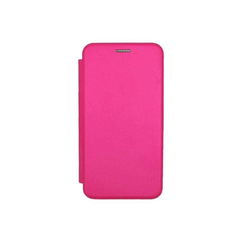 Θήκη Huawei P10 Lite Πορτοφόλι με Μαγνητικό Κλείσιμο φουξ 1