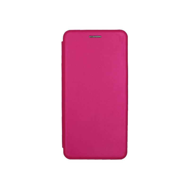 Θήκη Huawei P8 Lite Πορτοφόλι με Μαγνητικό Κλείσιμο φουξ 1