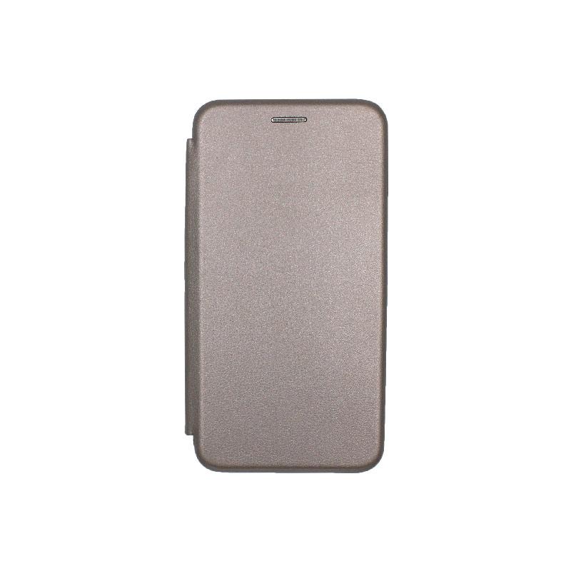 Θήκη Huawei Y5 2018 Πορτοφόλι με Μαγνητικό Κλείσιμο γκρι 1