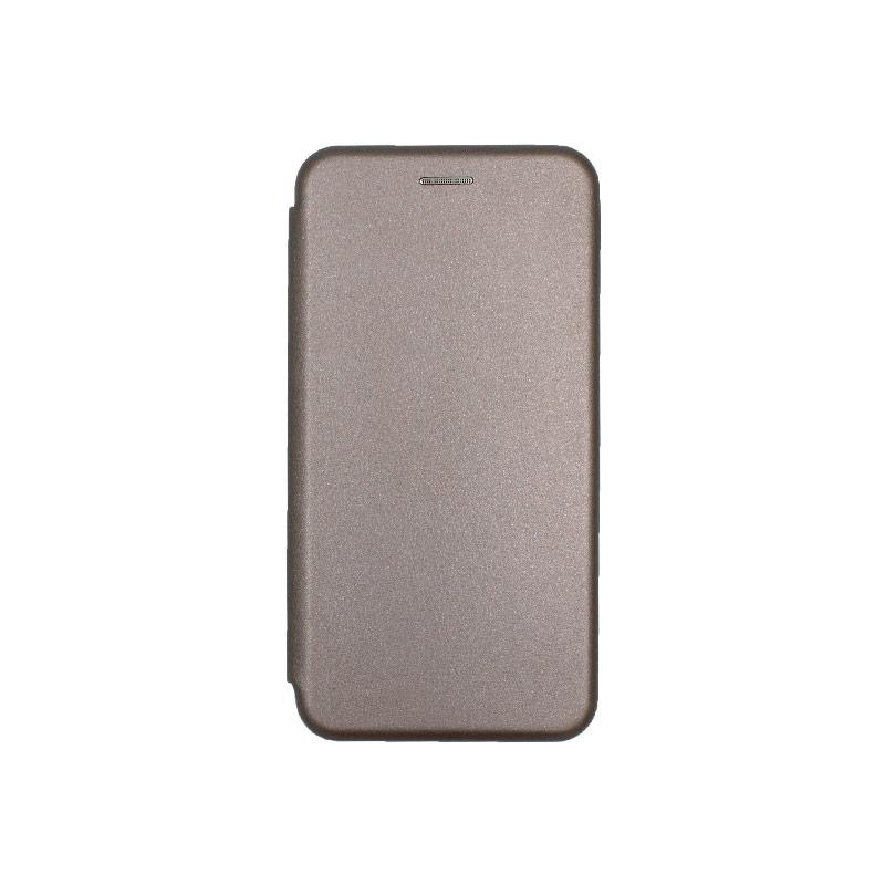 Θήκη Huawei P30 Lite Πορτοφόλι με Μαγνητικό Κλείσιμο γκρι 1