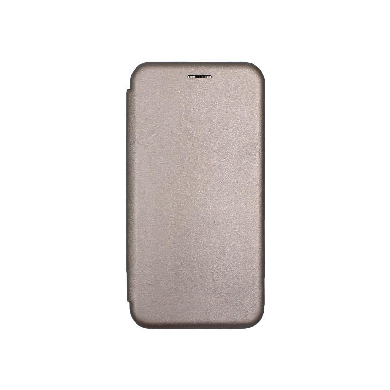 Θήκη Huawei P Smart Plus Πορτοφόλι με Μαγνητικό Κλείσιμο γκρι 1