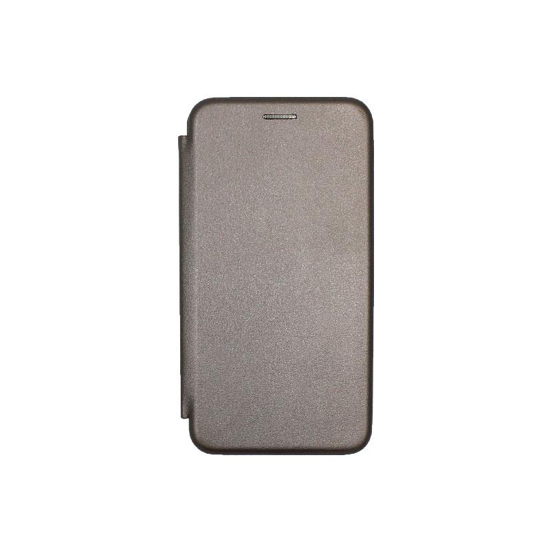 Θήκη Huawei P10 Lite Πορτοφόλι με Μαγνητικό Κλείσιμο γκρι 1