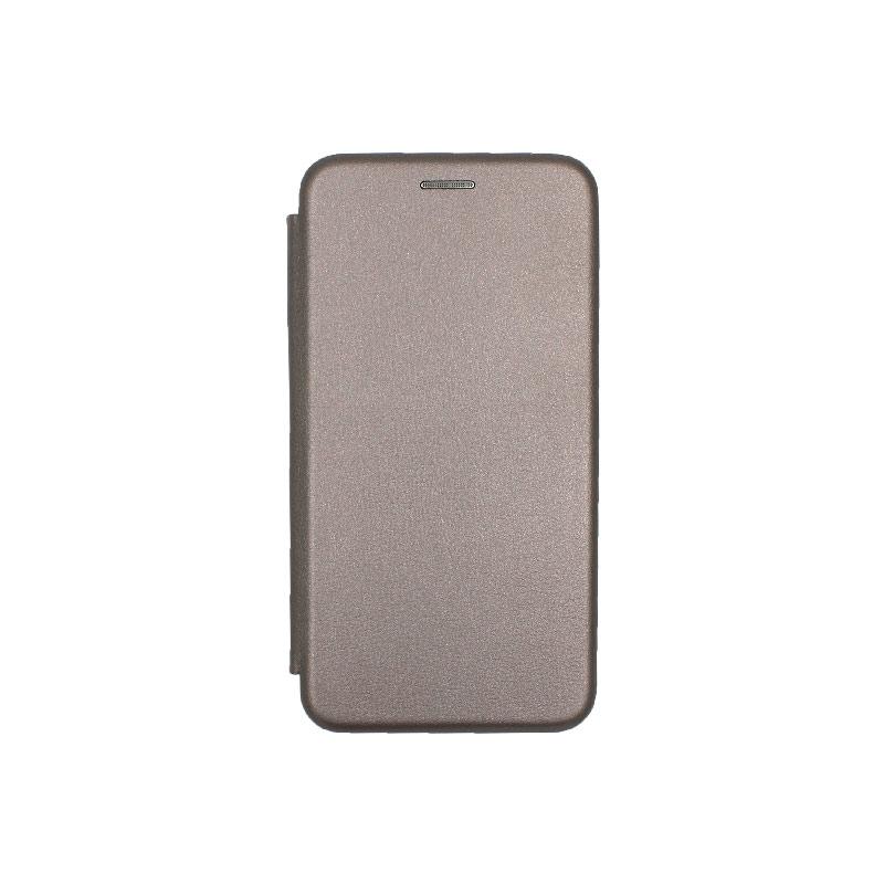 Θήκη Huawei P9 Lite Πορτοφόλι με Μαγνητικό Κλείσιμο γκρι 1