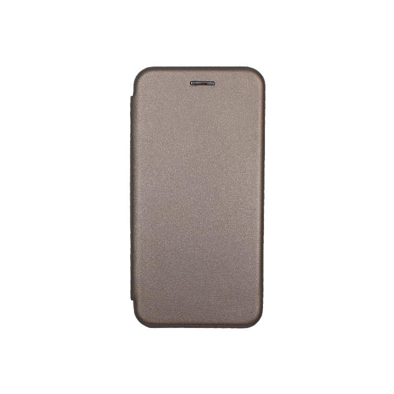 Θήκη Huawei P30 Πορτοφόλι με Μαγνητικό Κλείσιμο γκρι 1