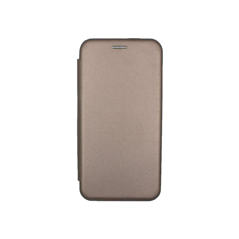 Θήκη Xiaomi Redmi Note 7 / 7 Pro Πορτοφόλι με Μαγνητικό Κλείσιμο γκρι 1
