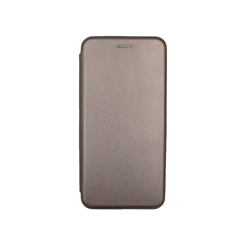 Θήκη Xiaomi Redmi Note 8T Πορτοφόλι με Μαγνητικό Κλείσιμο γκρι 1
