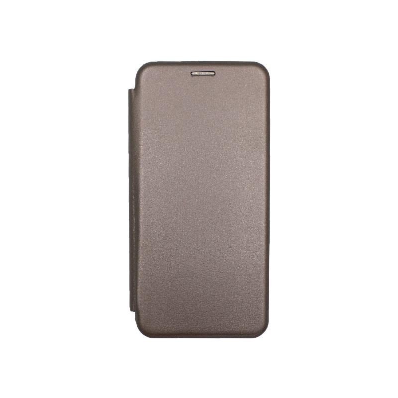 Θήκη Xiaomi Mi 10 / Mi 10 Pro Πορτοφόλι με Μαγνητικό Κλείσιμο γκρι 1