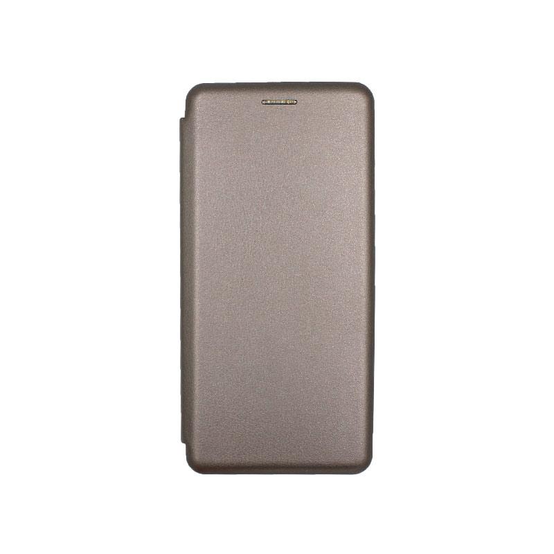 Θήκη Xiaomi Mi Note 10 / Note 10 Pro / CC9 Pro Πορτοφόλι με Μαγνητικό Κλείσιμο γκρι 1