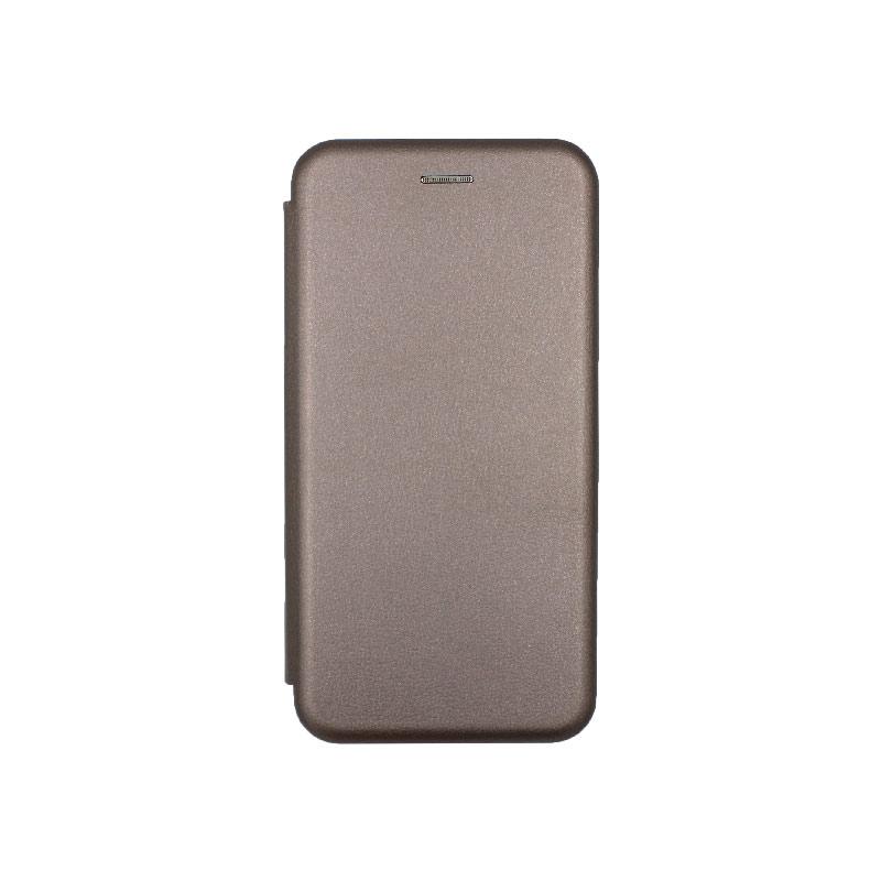 Θήκη Xiaomi Redmi A3 / CC9E Πορτοφόλι με Μαγνητικό Κλείσιμο γκρι 1
