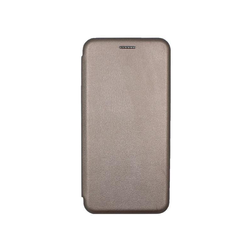 Θήκη Xiaomi Redmi Note 6 Pro Πορτοφόλι με Μαγνητικό Κλείσιμο γκρι 1