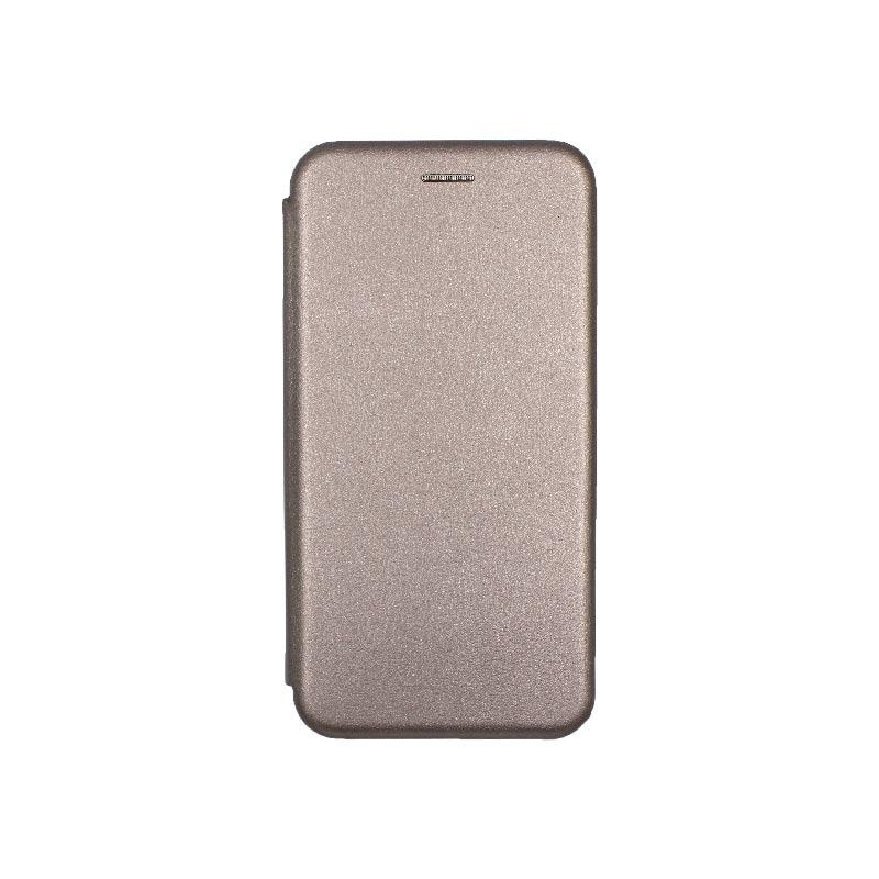 θήκη Xiaomi Mi 8 Lite πορτοφόλι με μαγνήτη γκρι1