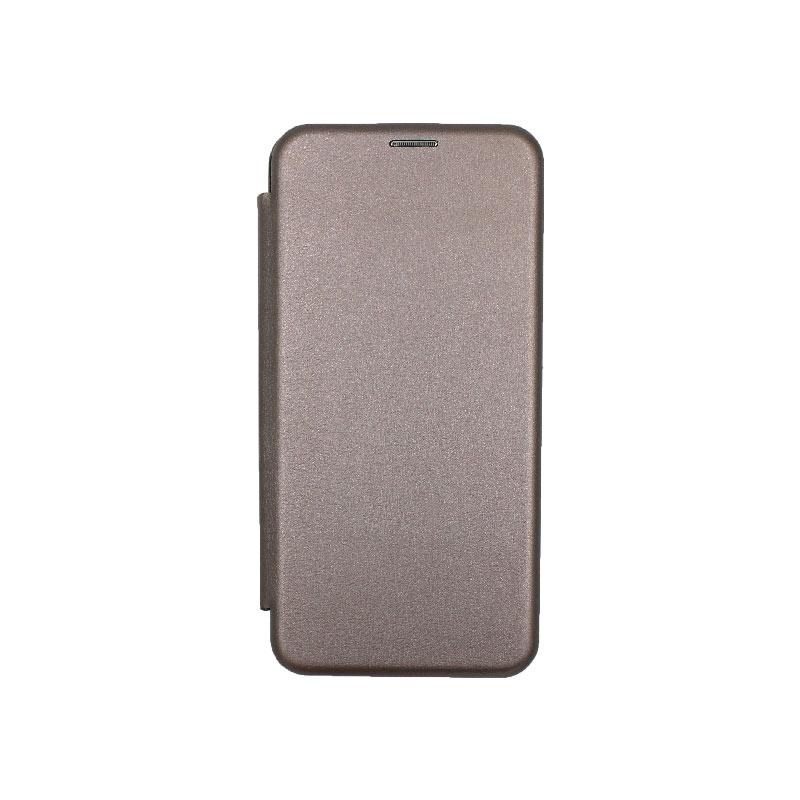 Θήκη Huawei Mate 30 Πορτοφόλι με Μαγνητικό Κλείσιμο γκρι 1