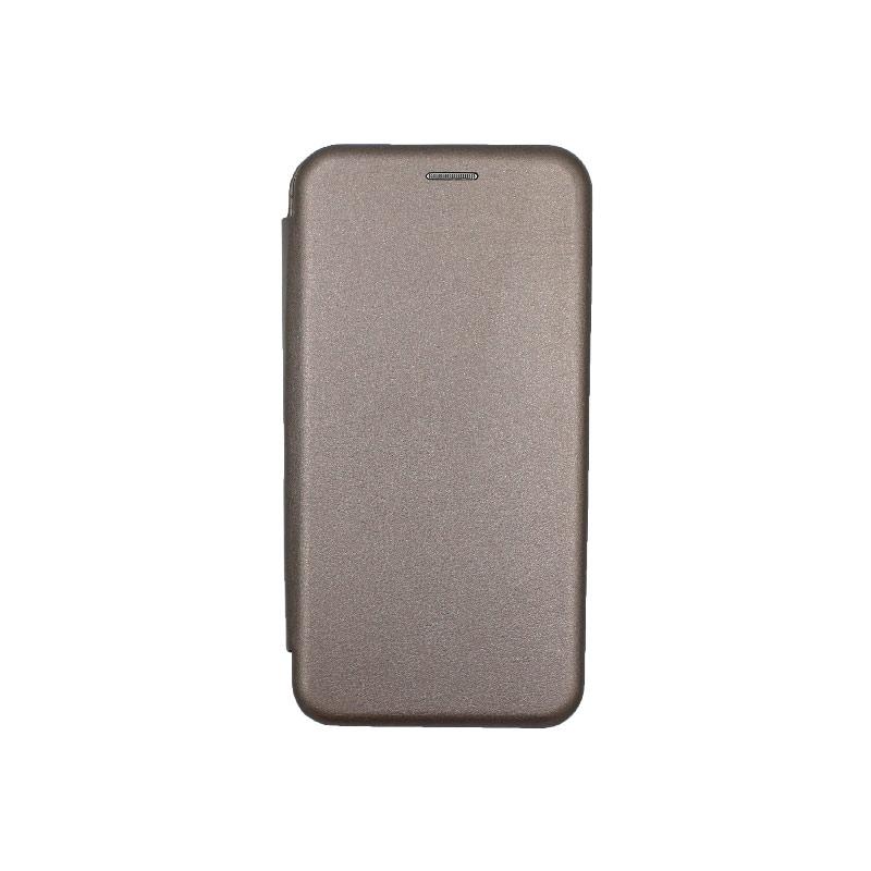 Θήκη Huawei Mate 30 Lite Πορτοφόλι με Μαγνητικό Κλείσιμο γκρι 1