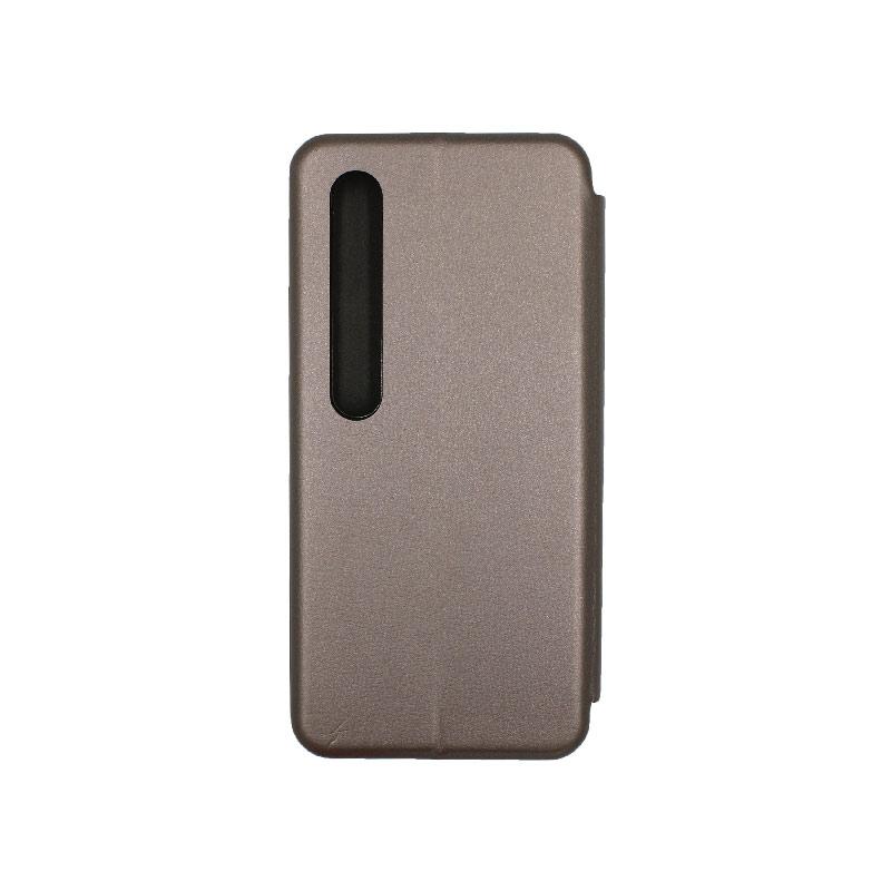 Θήκη Xiaomi Mi 10 / Mi 10 Pro Πορτοφόλι με Μαγνητικό Κλείσιμο γκρι 2