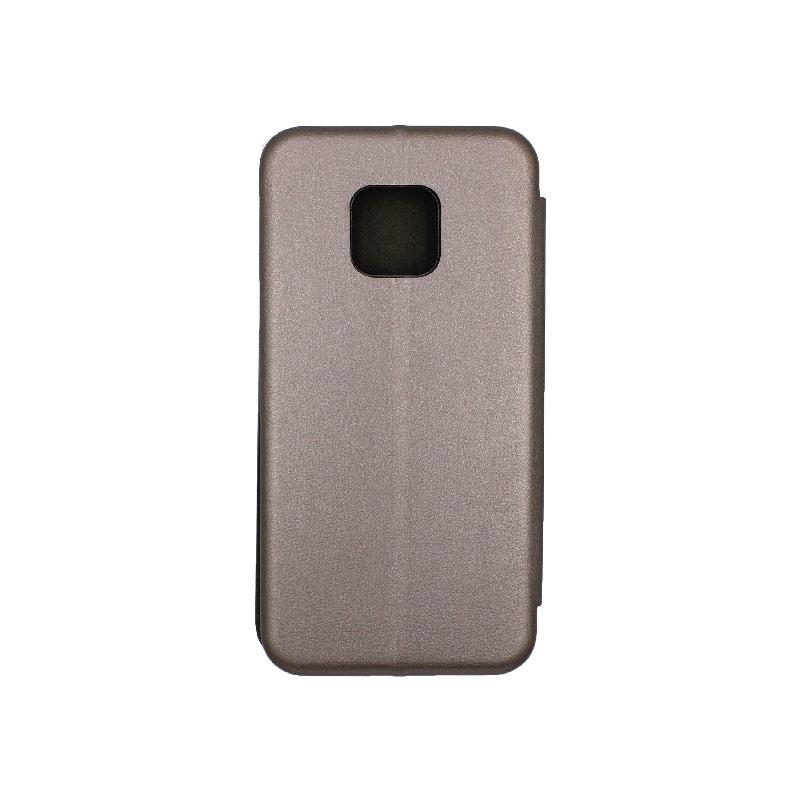 Θήκη Huawei Mate 20 Pro Πορτοφόλι με Μαγνητικό Κλείσιμο γκρι 2