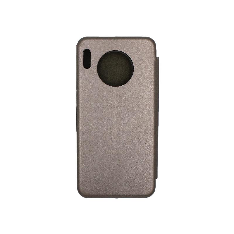 Θήκη Huawei Mate 30 Πορτοφόλι με Μαγνητικό Κλείσιμο γκρι 2
