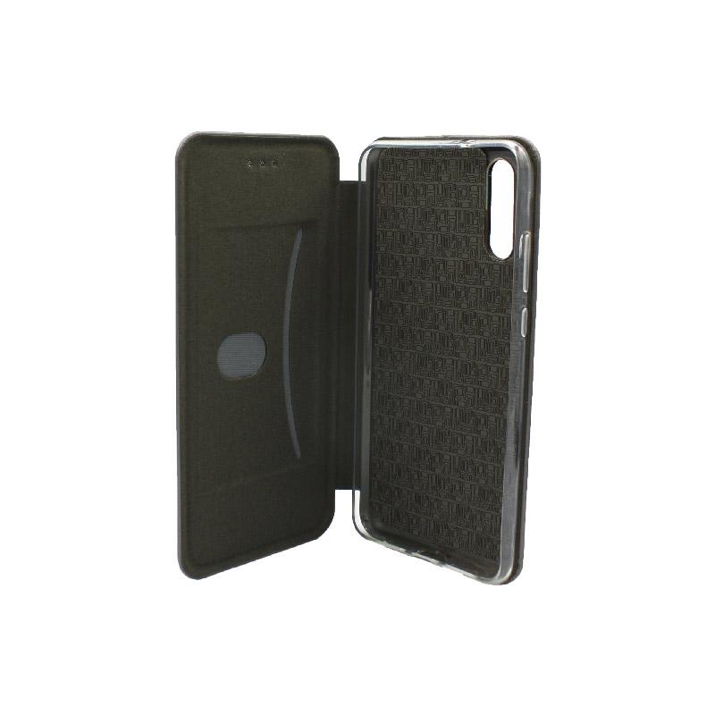 Θήκη Huawei P20 Πορτοφόλι με Μαγνητικό Κλείσιμο γκρι 3