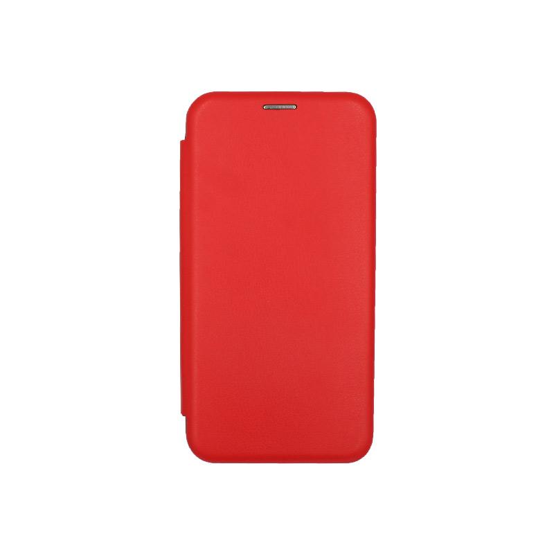 Θήκη Huawei Mate 20 Πορτοφόλι με Μαγνητικό Κλείσιμο κόκκινο 1