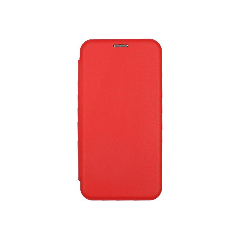 Θήκη Huawei Y7 2018 Πορτοφόλι με Μαγνητικό Κλείσιμο κόκκινο 1
