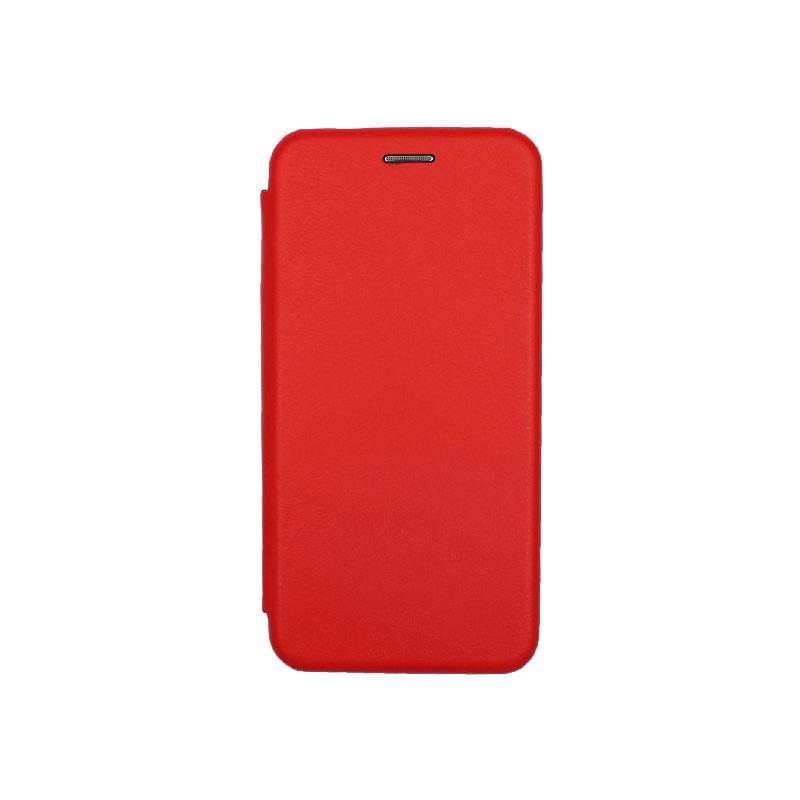 Θήκη Huawei P30 Πορτοφόλι με Μαγνητικό Κλείσιμο κόκκινο 1