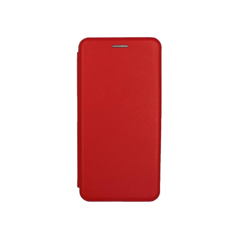 Θήκη Huawei P8 Lite Πορτοφόλι με Μαγνητικό Κλείσιμο κόκκινο 1