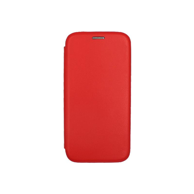 Θήκη Huawei P20 Πορτοφόλι με Μαγνητικό Κλείσιμο κόκκινο 1