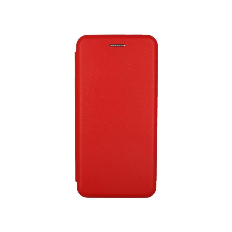 Θήκη Xiaomi Redmi Note 6 Pro Πορτοφόλι με Μαγνητικό Κλείσιμο κόκκινο 1