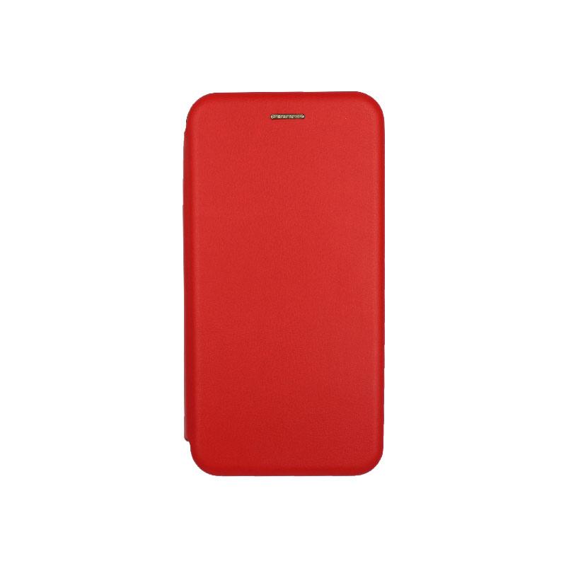 θήκη Xiaomi Mi 8 Lite πορτοφόλι με μαγνήτη κόκκινο 1