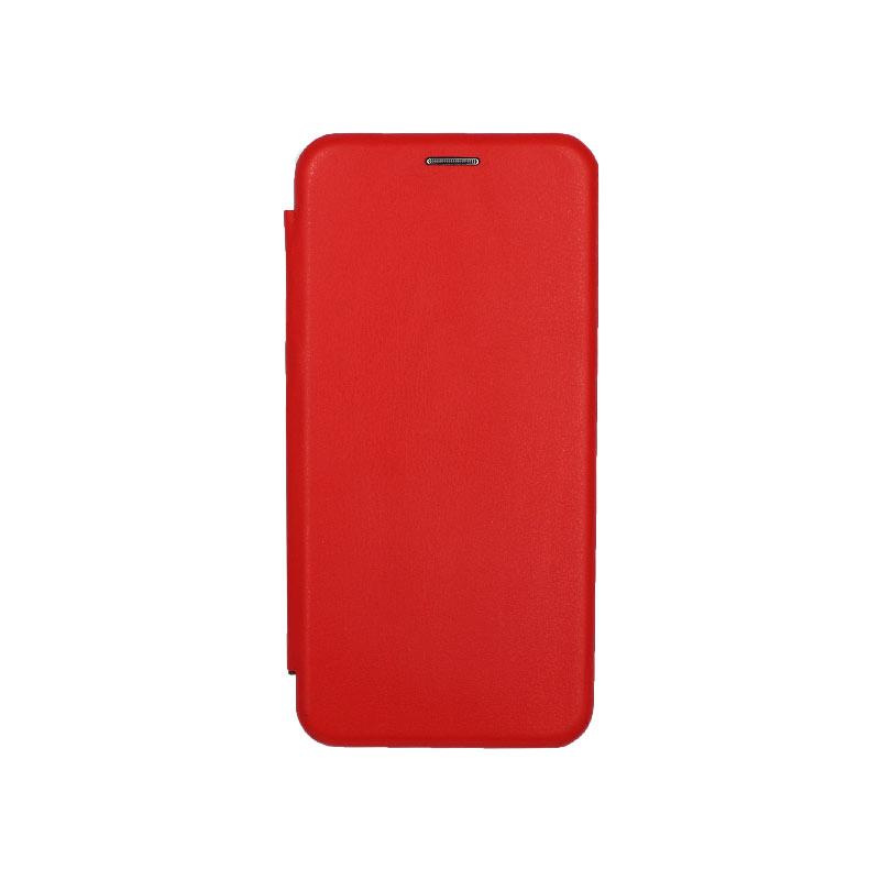 Θήκη Huawei Mate 30 Πορτοφόλι με Μαγνητικό Κλείσιμο κόκκινο 1