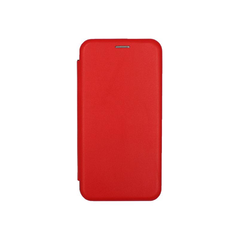 Θήκη Huawei Mate 30 Lite Πορτοφόλι με Μαγνητικό Κλείσιμο κόκκινο 1