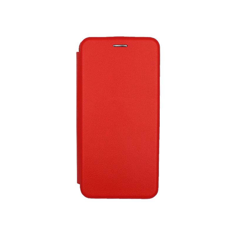 Θήκη Huawei Y9 2019 Πορτοφόλι με Μαγνητικό Κλείσιμο κόκκινο 1