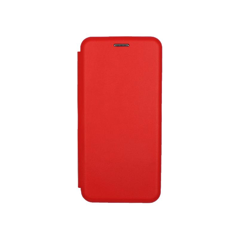 Θήκη Huawei P30 Lite Πορτοφόλι με Μαγνητικό Κλείσιμο κόκκινο 1